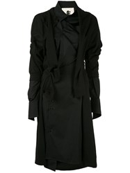 Aganovich Deconstructed Jersey Shirt Dress Black