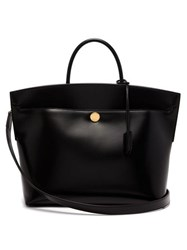 Burberry Society Leather Tote Bag Black