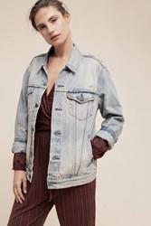 Anthropologie Levi's Denim Trucker Jacket Denim Dark