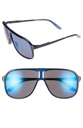 Men's Carrera Eyewear 'Safari' 62Mm Aviator Sunglasses Blue Blue Sky Mirror