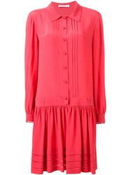 Philosophy Di Lorenzo Serafini Loose Fit Shirt Dress Pink And Purple