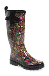 Sakroots Women's 'Rhythm' Waterproof Rain Boot Rainbow Spirit Desert