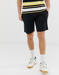 Pull And Bear Jogger Shorts In Black Black