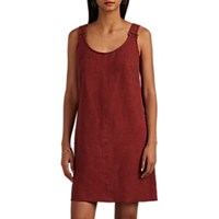 Leo And Sage Linen Cotton Tank Dress Red