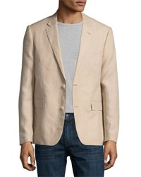 English Laundry Two Button Linen Blazer Tan