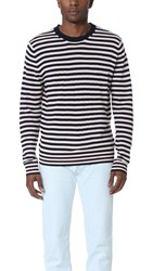 Paul Smith Striped Merino Wool Crew Neck Sweater