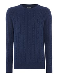 Howick Sanford Cable Crew Jumper Dark Navy