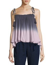 Young Fabulous And Broke Indi Tassel Tie Ombre Swing Top Purple