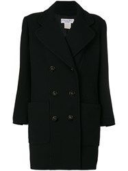 Christian Dior Vintage Double Breasted Coat Black