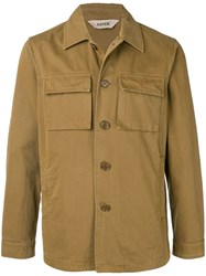 Aspesi Buttoned Jacket Brown
