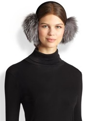 Surell Fox Fur Earmuffs Blue Frost