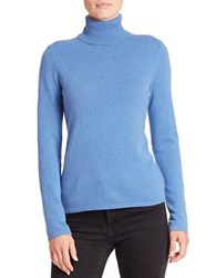 Lord And Taylor Cashmere Turtleneck Sweater Arctic Heather