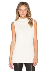Kathryn Mccarron Mckenna Oversized Sleeveless Sweater Cream