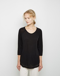 Raquel Allegra Burnout Raglan Tee Black