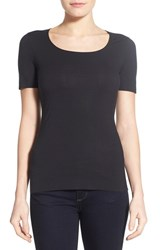 Women's Wolford 'Pure' Stretch Modal Tee Black
