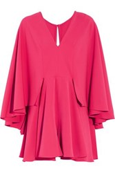 Milly Ruffled Stretch Cady Playsuit Pink