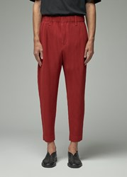 Homme Plisse Issey Miyake 'S October Pleated Pant In Bitter Cherry Red Size 1 100 Polyester