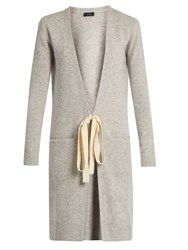 Joseph Long Cashmere Cardigan Light Grey