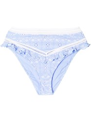 Ermanno Scervino Broderie Anglaise Briefs Blue