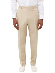 Jaeger Silk Linen Regular Fit Suit Trousers Straw