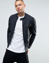 Esprit Faux Leather Biker Jacket Black