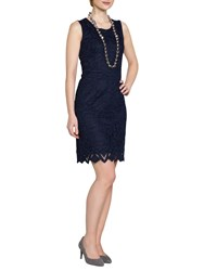 East Lace Shift Dress Navy
