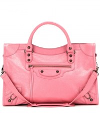 Balenciaga Classic City Leather Tote Pink