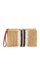 Hat Attack Striped Wristlet Natural Navy