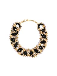 Dsquared2 Crystal Embellished Necklace Black