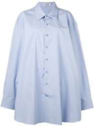 Jil Sander Claudia Sv Shirt Women Cotton One Size Blue