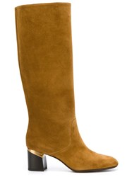 Lanvin Mid Calf Boots Brown