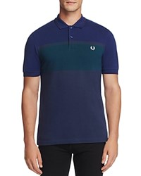 Fred Perry Color Block Stripe Slim Fit Polo Shirt Dark Carbon