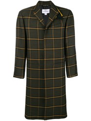Oamc Check Pattern Coat Green