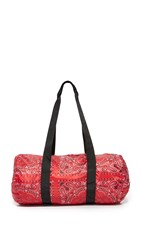 Herschel Packable Duffel Bag Red Bandana