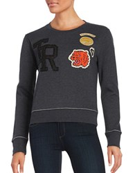 True Religion Long Sleeve Sweatshirt Washed Black