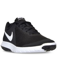 Nike Women's Flex Experience Run 6 Wide Running Sneakers From Finish Line Black White