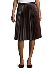 1.State Accordion Pleated Colorblock Skirt Rich Black