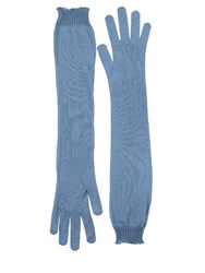 Rochas Silk Knit Long Gloves