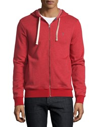 Penguin Zip Up Hoodie Haute Red