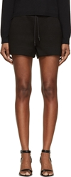 Alexander Wang Black Scuba Neoprene Shorts