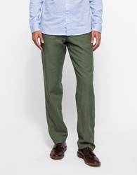 Apolis Linen Civilian Chino Pant In Olive