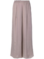 Forte Forte Elasticated Waistband Wide Legged Trousers Pink And Purple