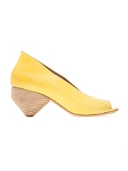 Marsell Open Toe Wedge Yellow And Orange
