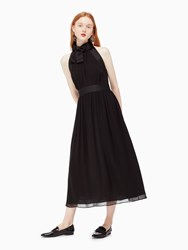Kate Spade Chiffon Bow Dress Black