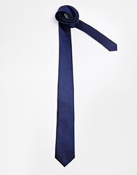 French Connection Woven Tie Blue