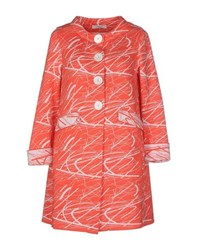 Charlott Coats And Jackets Full Length Jackets Women Coral