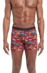 Saxx Men's 'Vibe' Stretch Boxer Briefs Red Magnum Hawaii