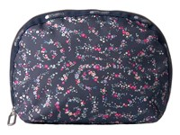 Le Sport Sac Half Moon Cosmetic Fairy Floral Blue Cosmetic Case Black