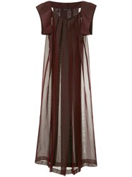Yohji Yamamoto Vintage Pleated Maxi Dress Red