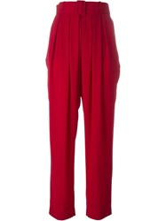 Antonio Marras Belted High Waist Trousers Red
